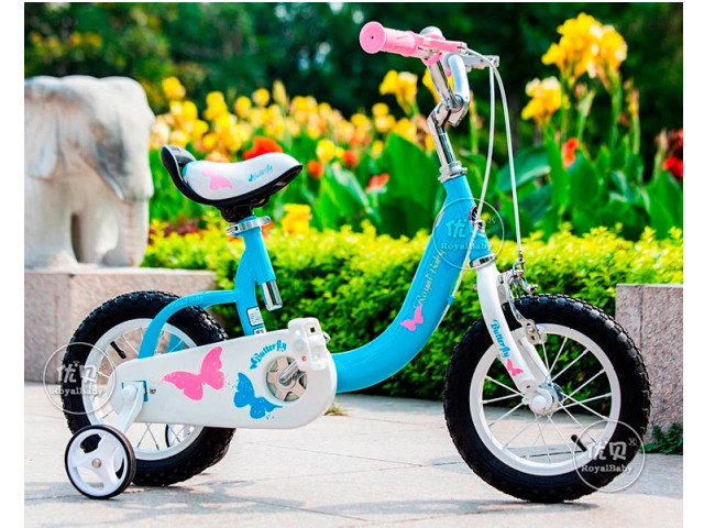 Детский велосипед Royal Baby Butterfly Steel 12