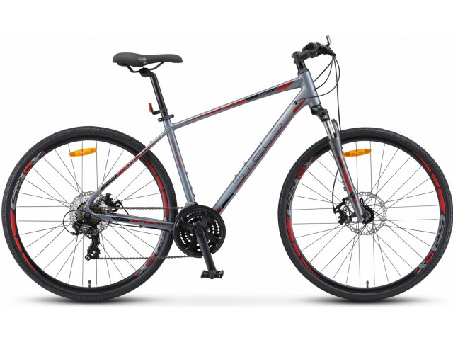 "Велосипед Stels Cross-130 MD Gent 28"" V010 рама 20"" Серый"