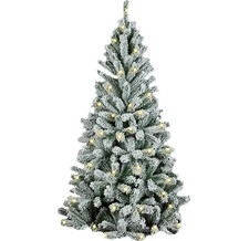Елка искусственная Royal Christmas Flock Tree Promo Warm LED Hinged 180 см